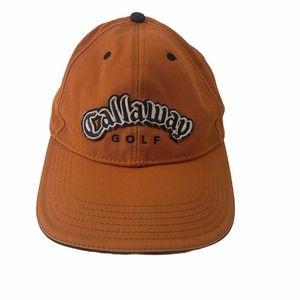 Callaway Golf Cap Hat Orange Strap Back Mens